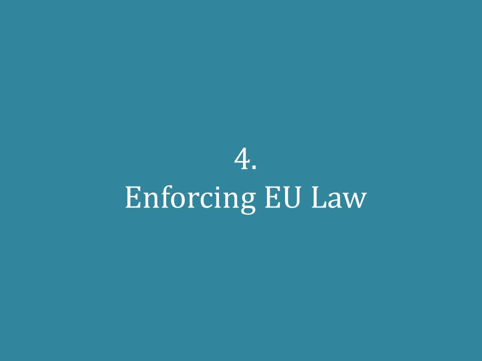 4. Enforcing EU Law