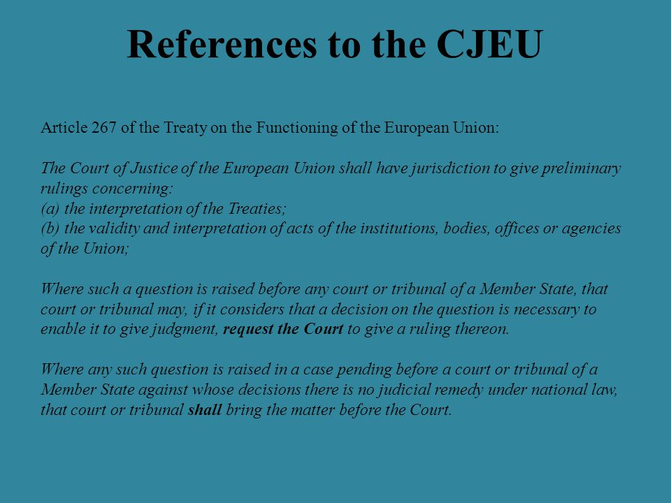 References to the CJEU