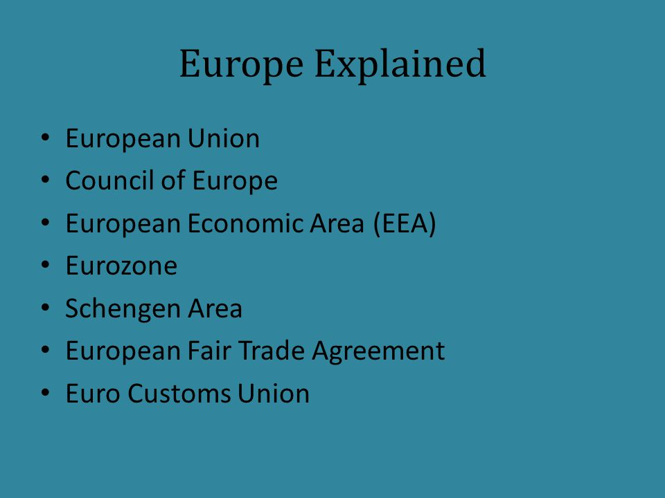 Europe Explained European Union Council of Europe