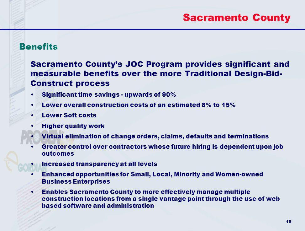 Sacramento County Benefits