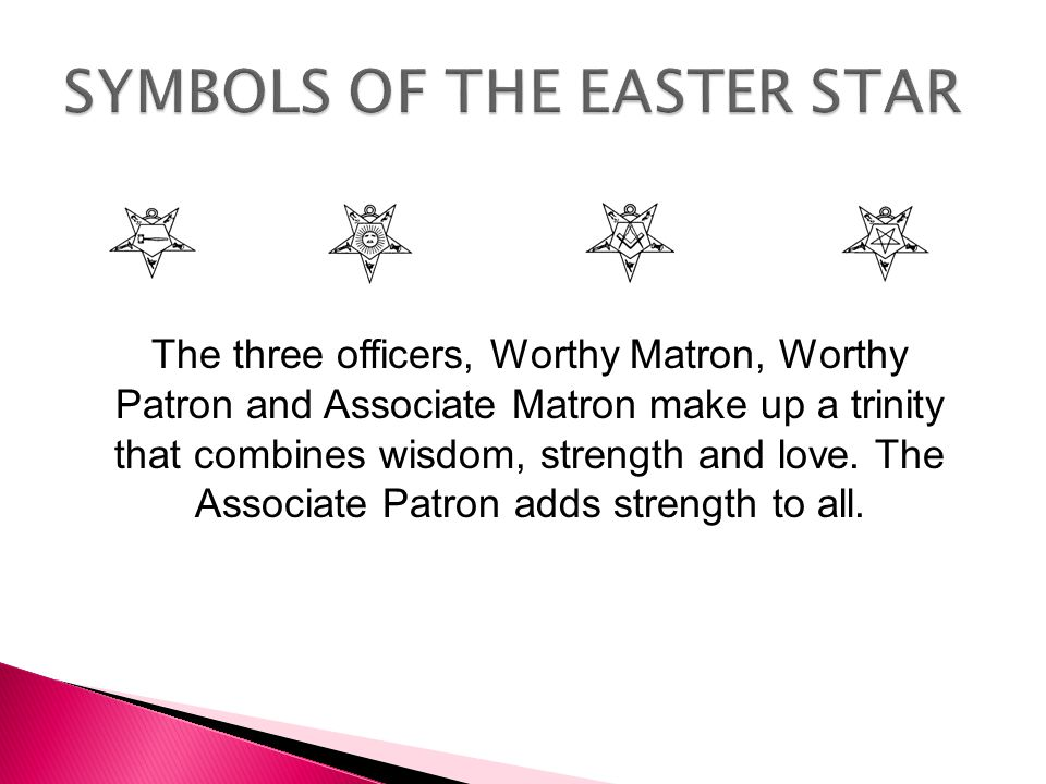 SYMBOLS OF THE EASTER STAR