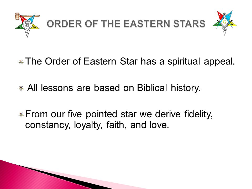 ORDER OF THE EASTERN STARS