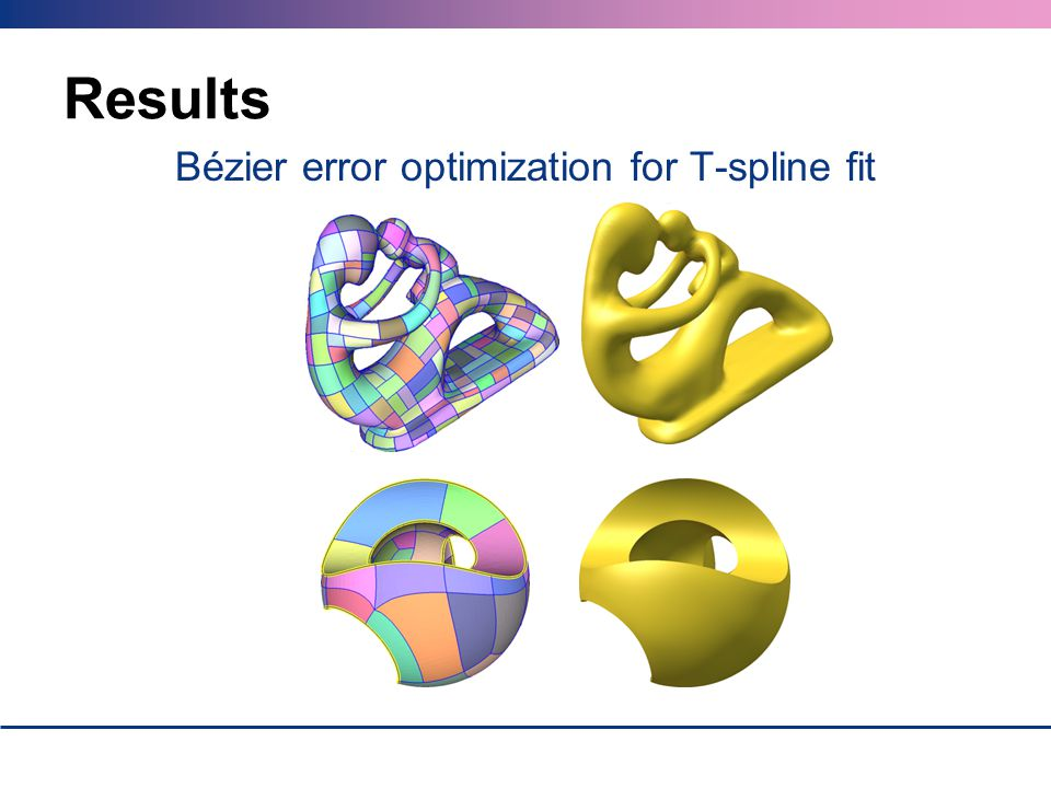 Bézier error optimization for T-spline fit