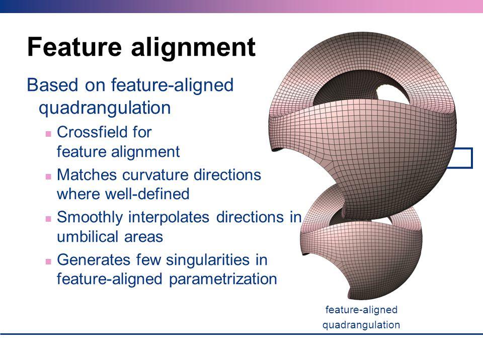 Feature alignment Based on feature-aligned quadrangulation
