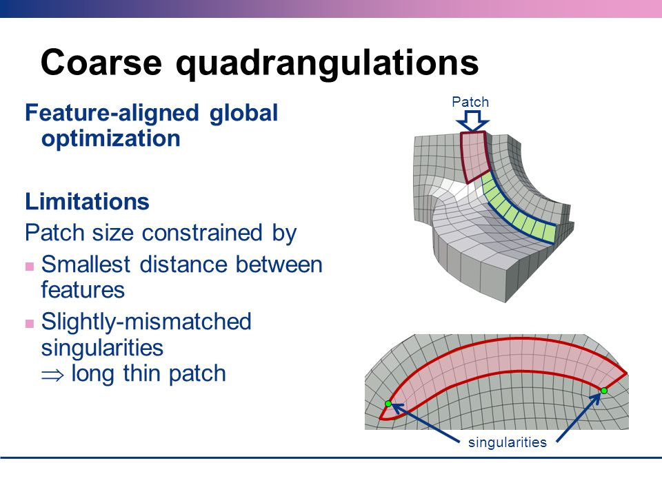 Coarse quadrangulations