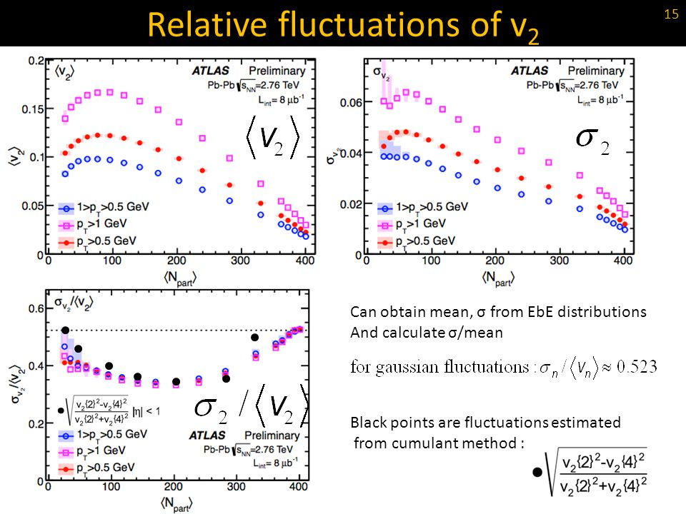 Relative fluctuations of v2