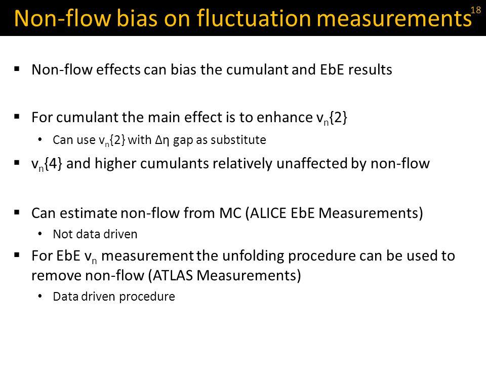 Non-flow bias on fluctuation measurements