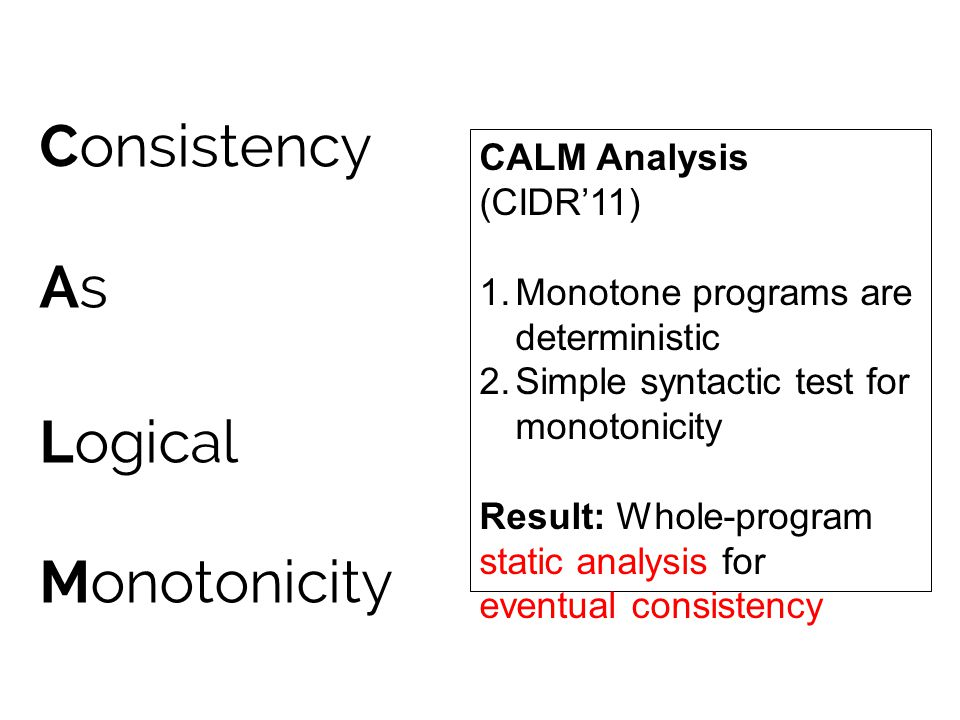 Consistency As Logical Monotonicity