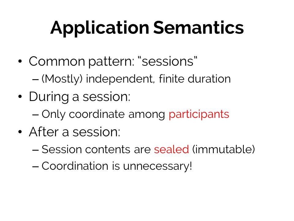 Application Semantics