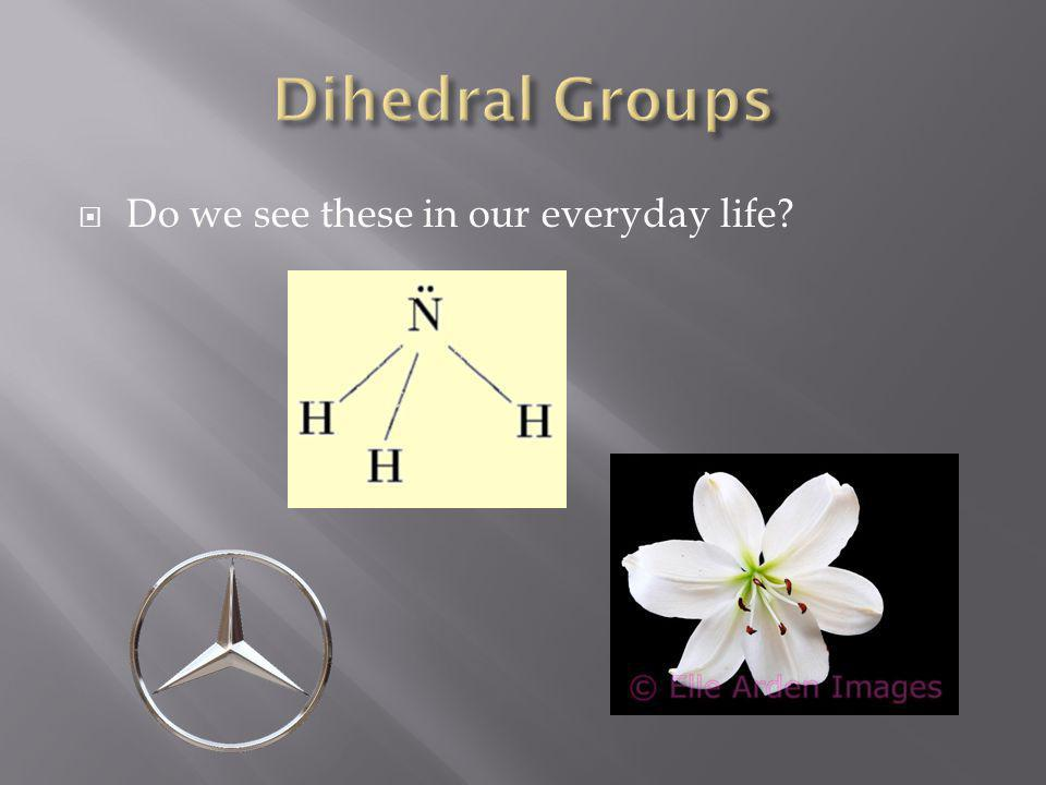 Dihedral Groups Do we see these in our everyday life