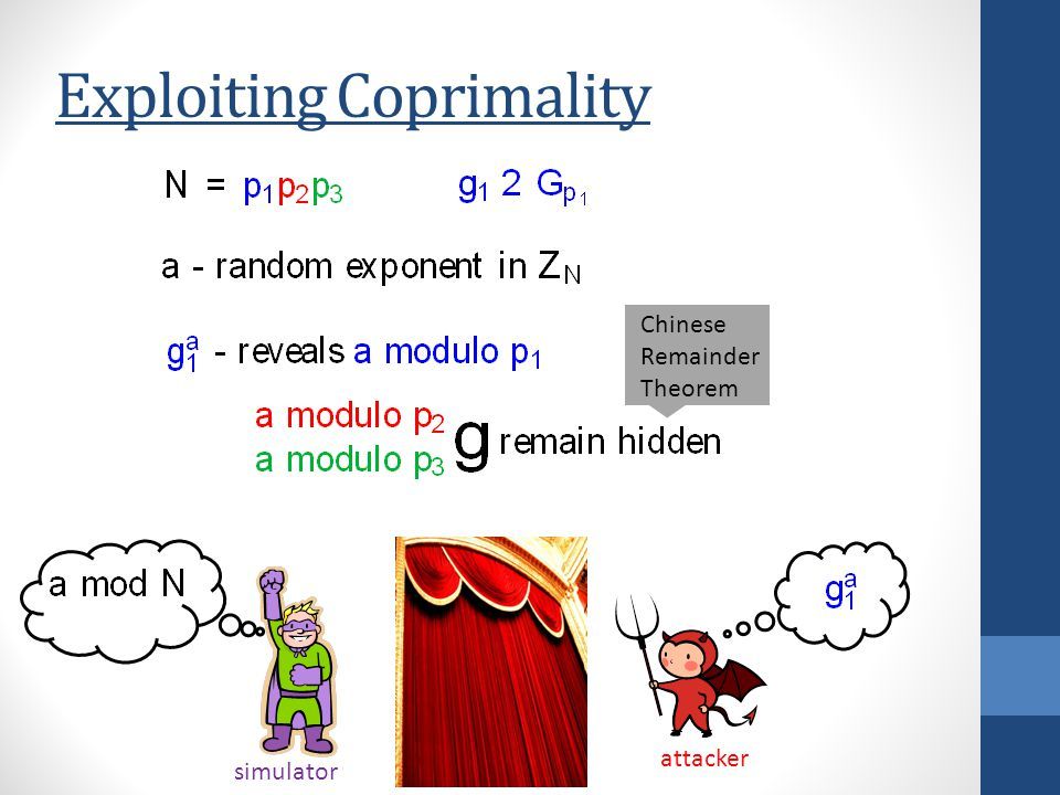 Exploiting Coprimality