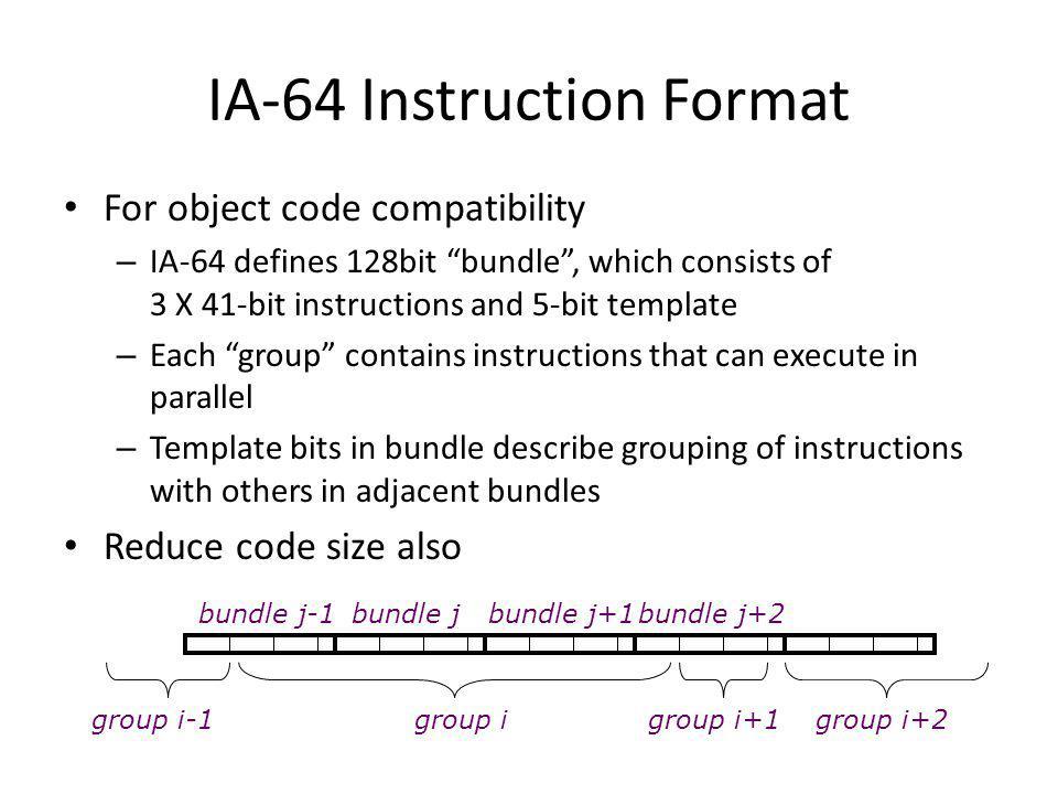 IA-64 Instruction Format