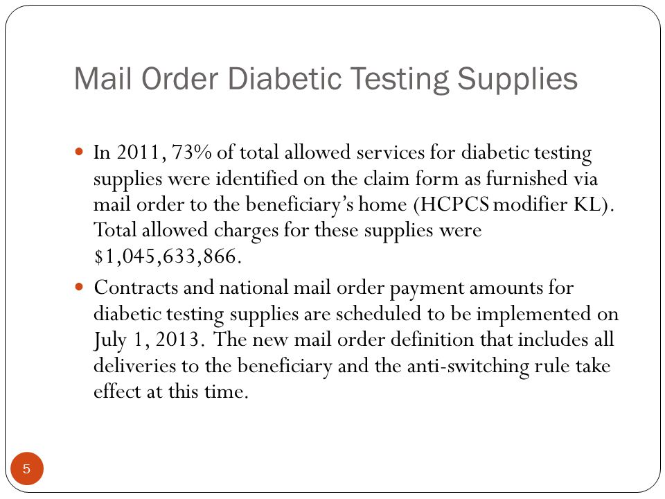 Mail Order Diabetic Testing Supplies