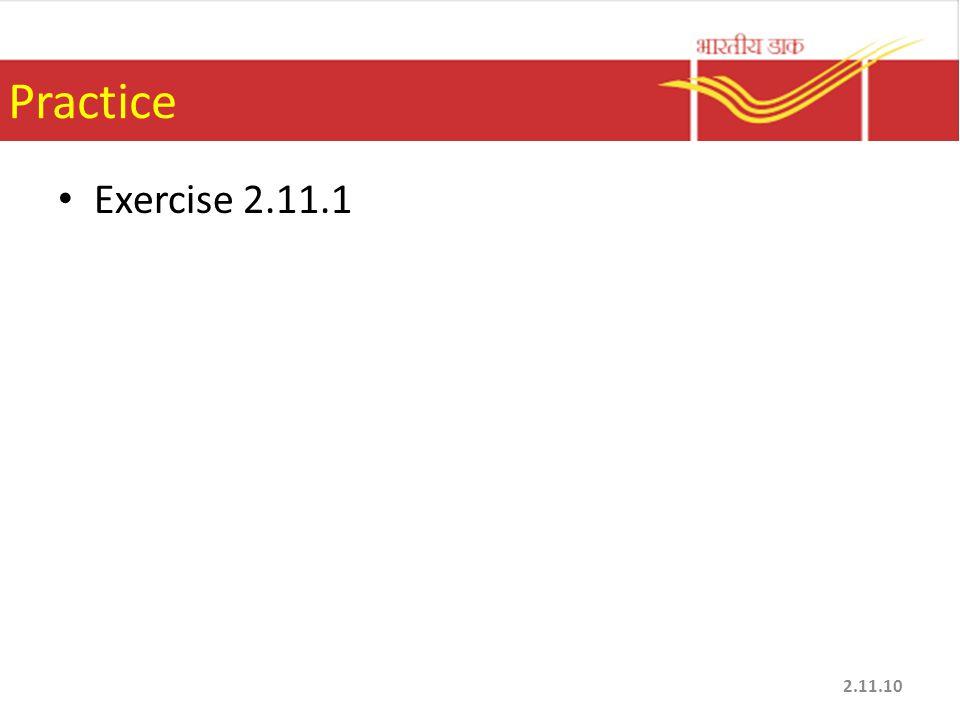 Practice Exercise 2.11.1