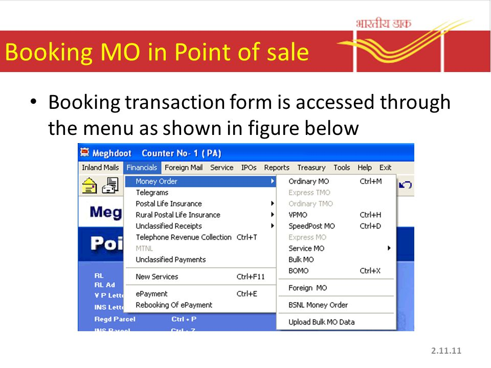 Booking MO in Point of sale