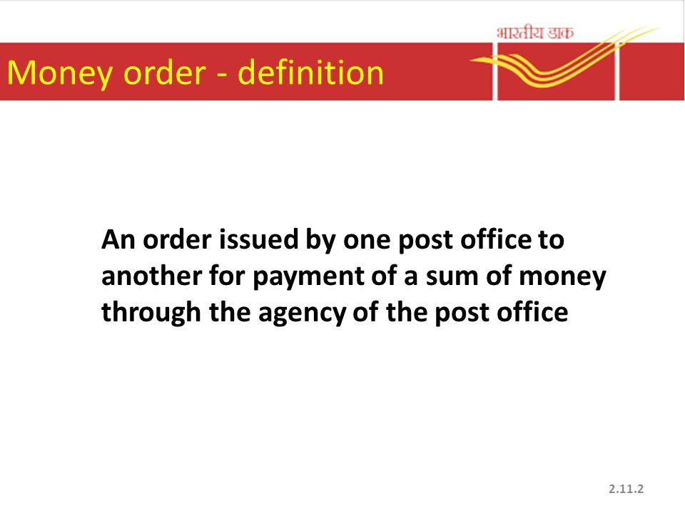 Money order - definition