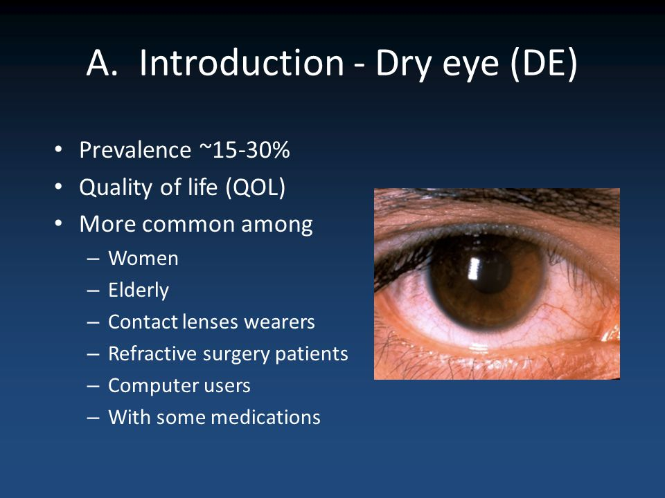A. Introduction - Dry eye (DE)