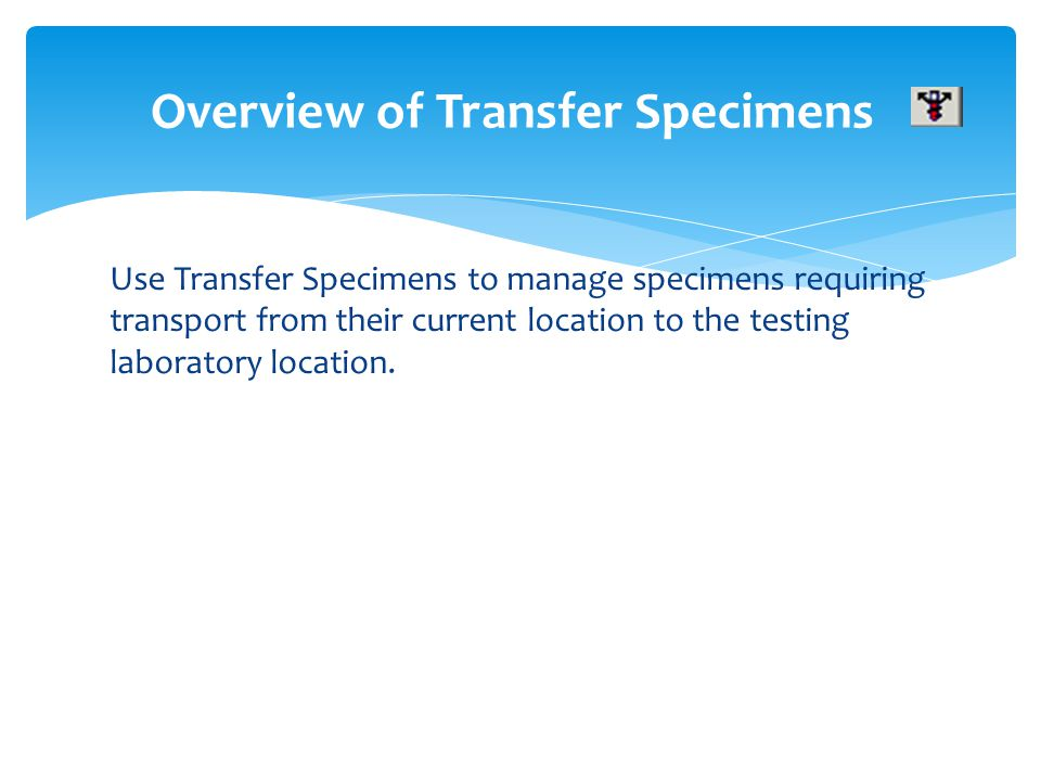 Overview of Transfer Specimens