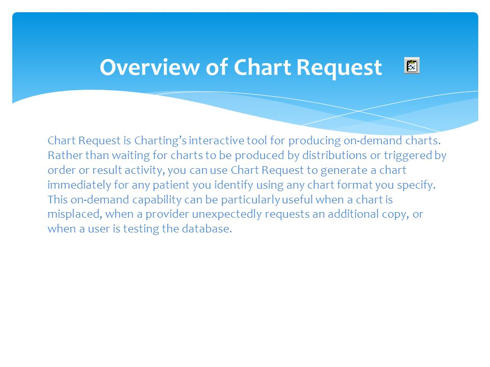 Overview of Chart Request