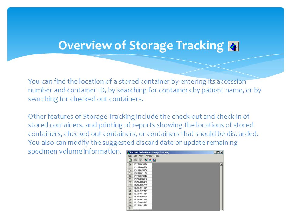 Overview of Storage Tracking