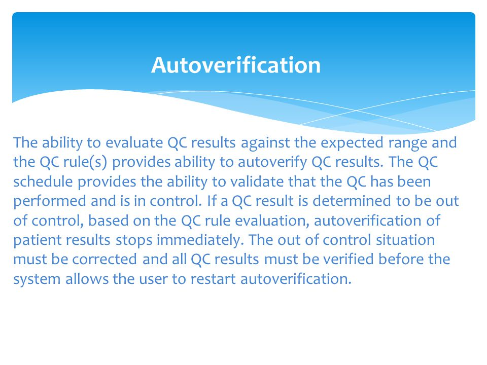 Autoverification