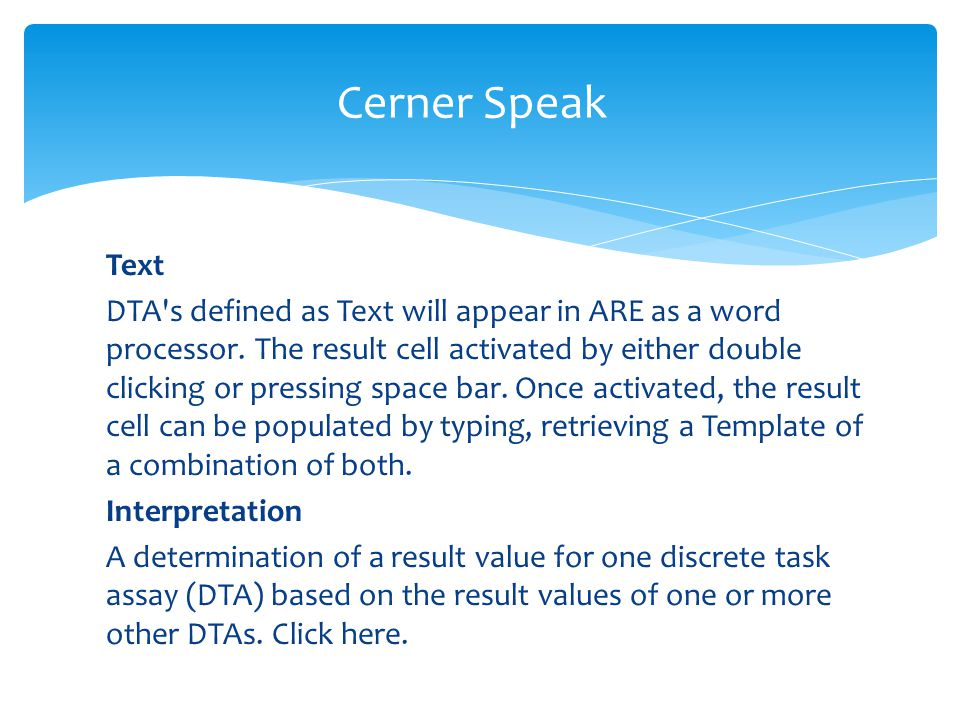 Cerner Speak