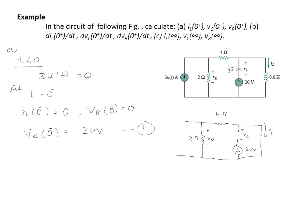 Example. In the circuit of following Fig