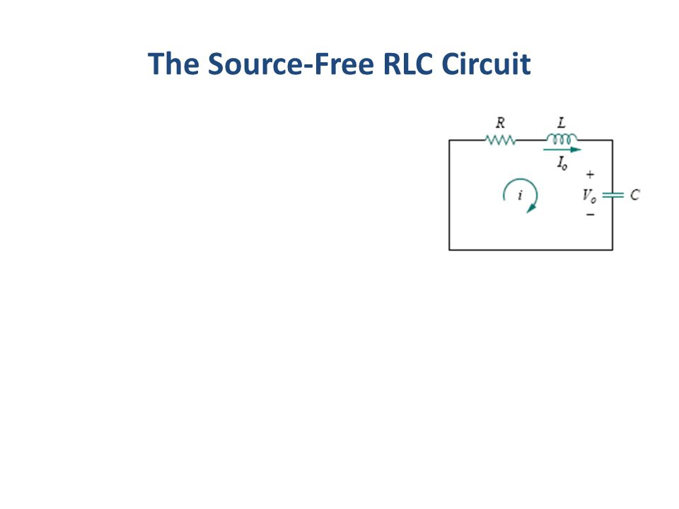 The Source-Free RLC Circuit
