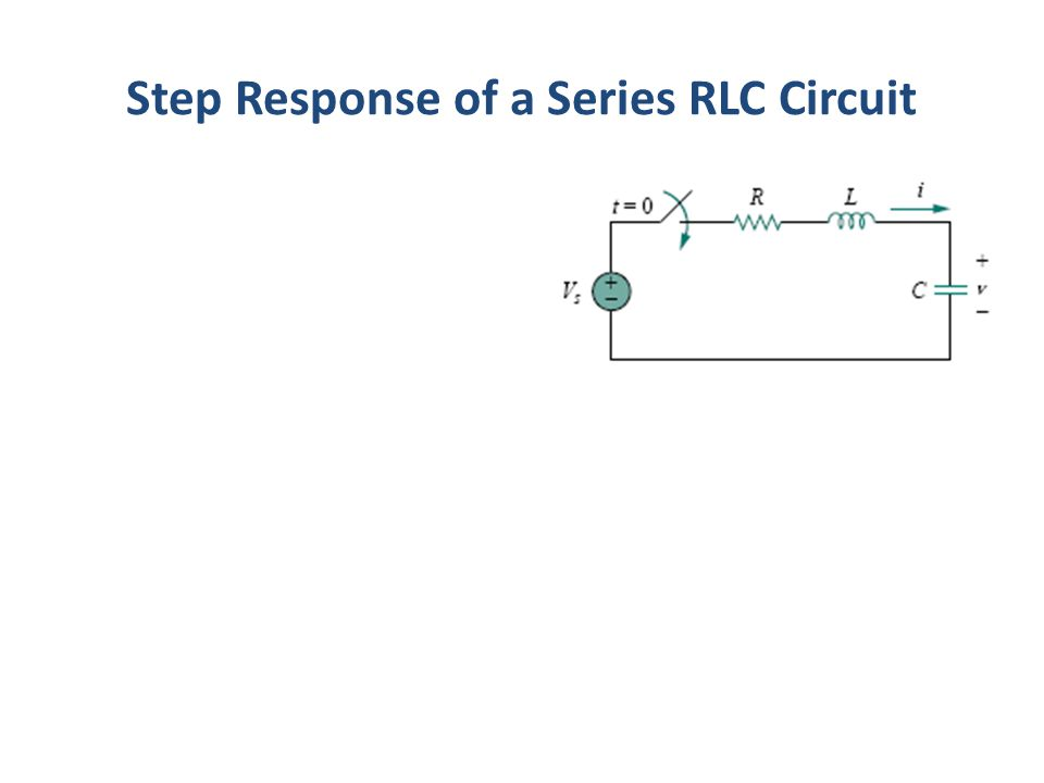 Step Response of a Series RLC Circuit