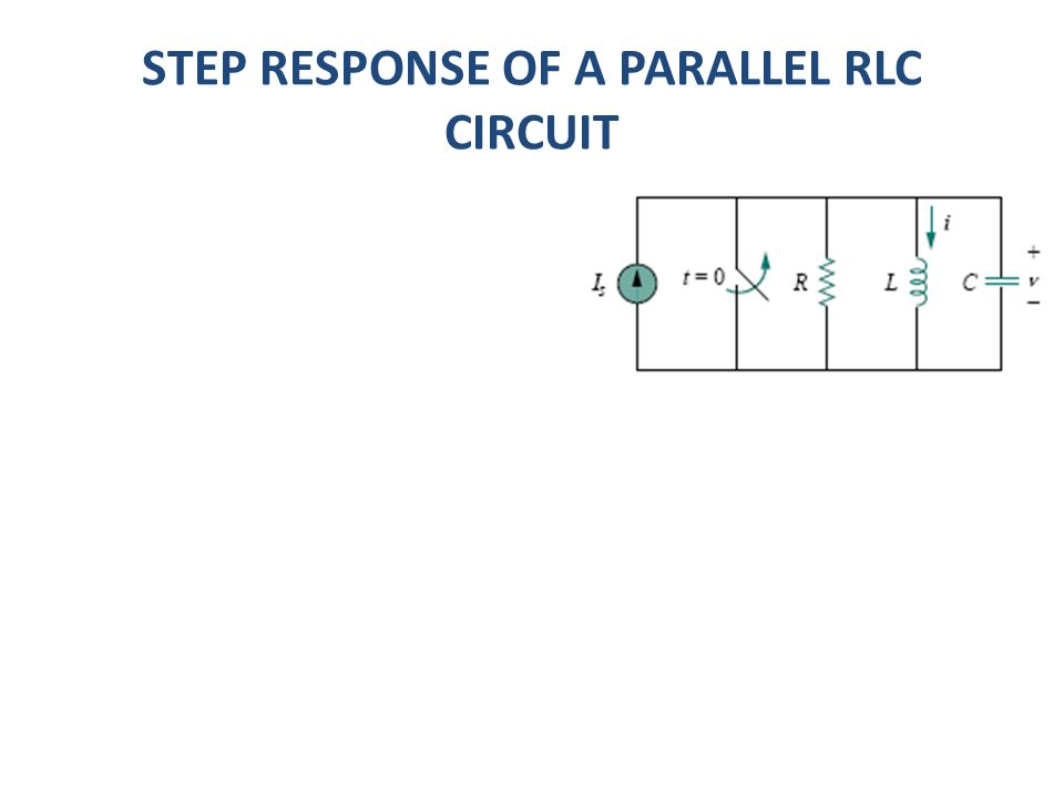 STEP RESPONSE OF A PARALLEL RLC CIRCUIT