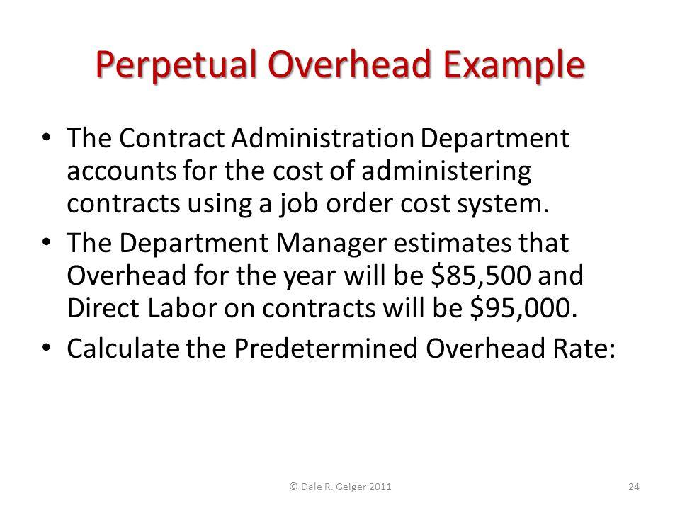 Perpetual Overhead Example