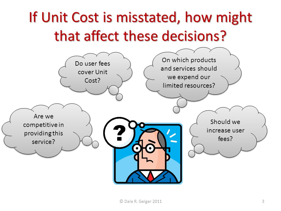 If Unit Cost is misstated, how might that affect these decisions