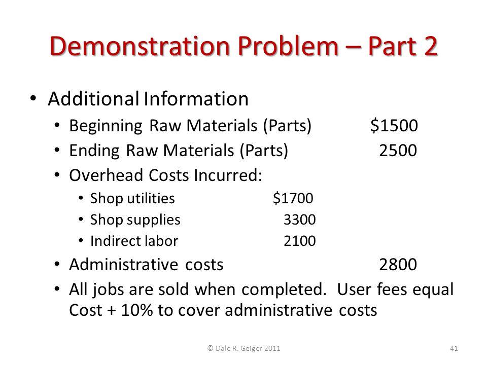 Demonstration Problem – Part 2