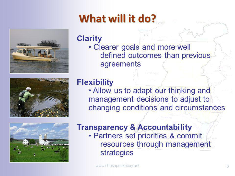 What will it do Clarity. Clearer goals and more well defined outcomes than previous agreements.