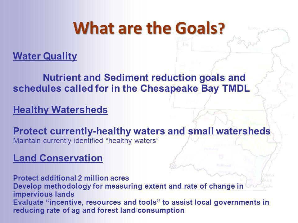 What are the Goals Water Quality
