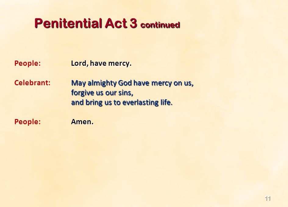 Penitential Act 3 continued