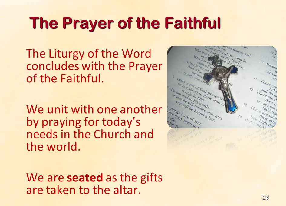 The Prayer of the Faithful