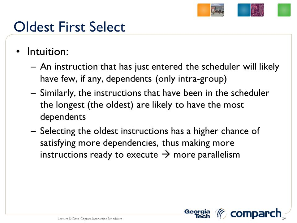 Oldest First Select Intuition:
