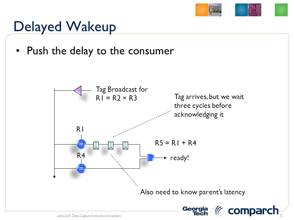 Delayed Wakeup Push the delay to the consumer Tag Broadcast for