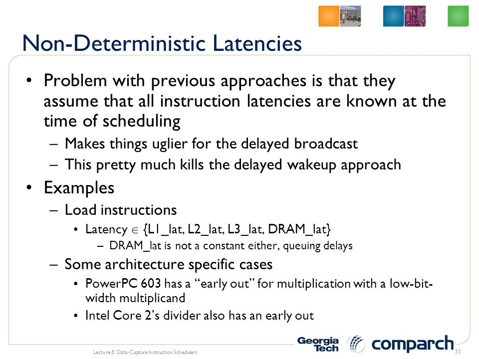 Non-Deterministic Latencies