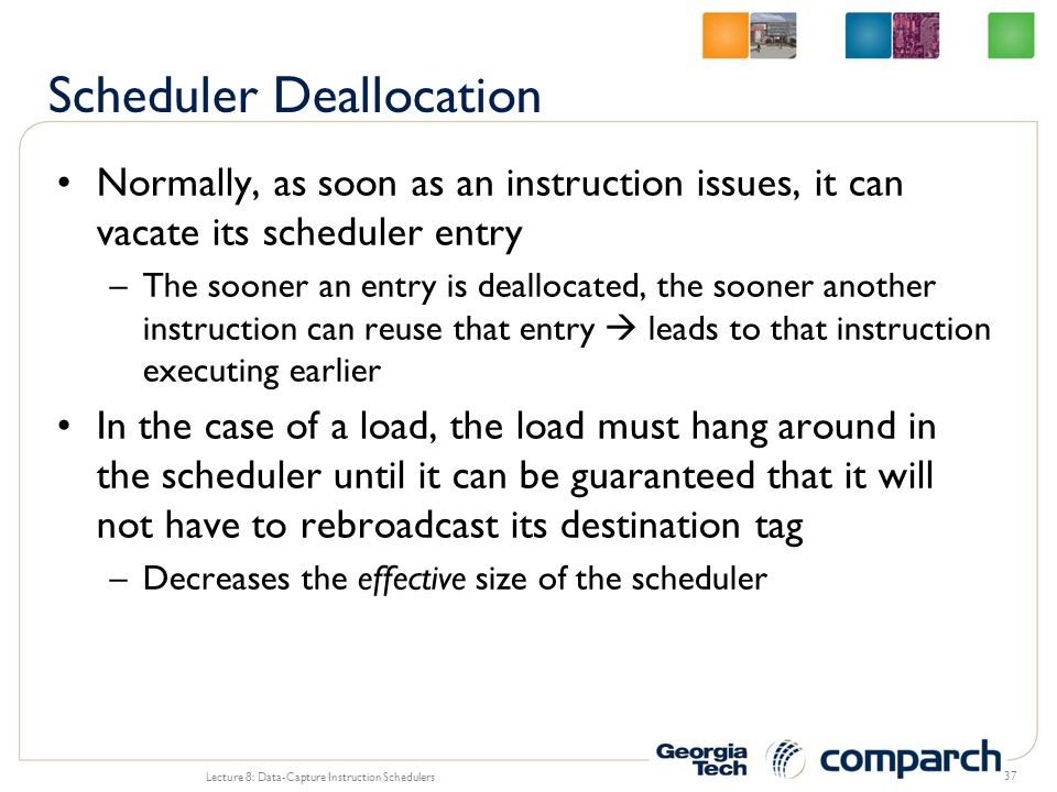 Scheduler Deallocation