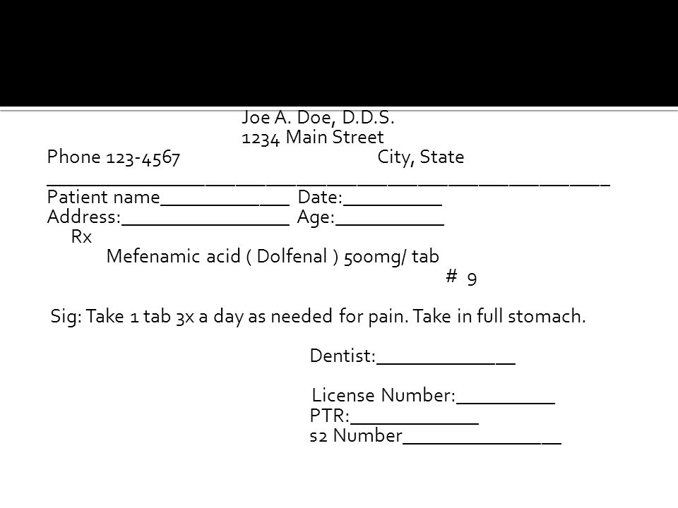 Joe A. Doe, D.D.S.