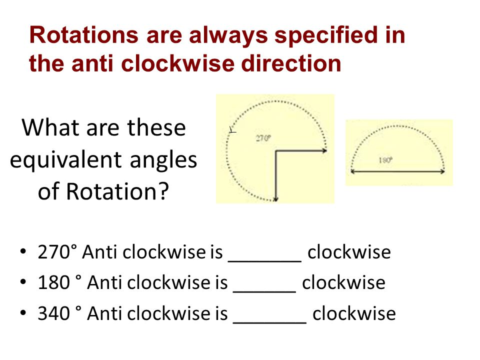 What are these equivalent angles of Rotation