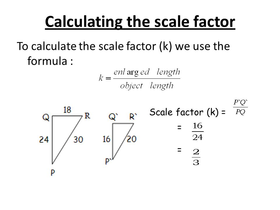 Calculating the scale factor
