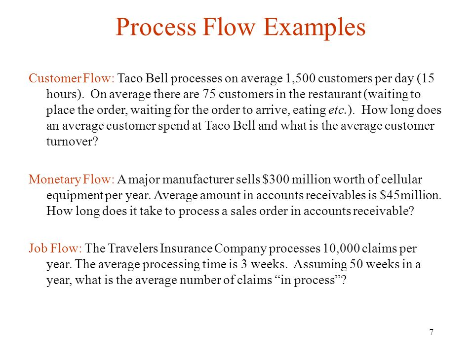 Process Flow Examples