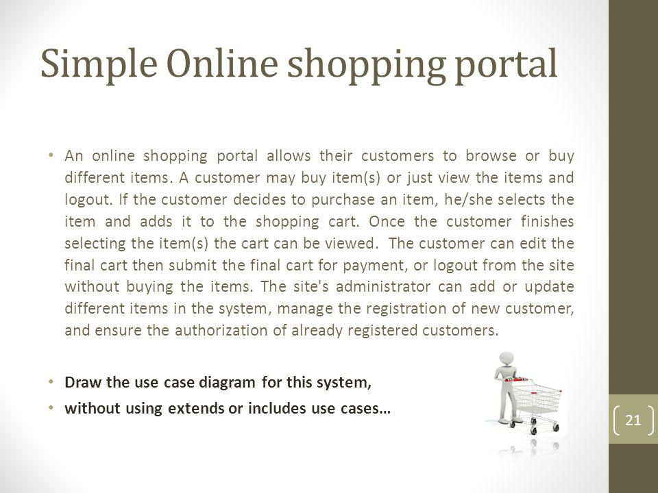 Simple Online shopping portal