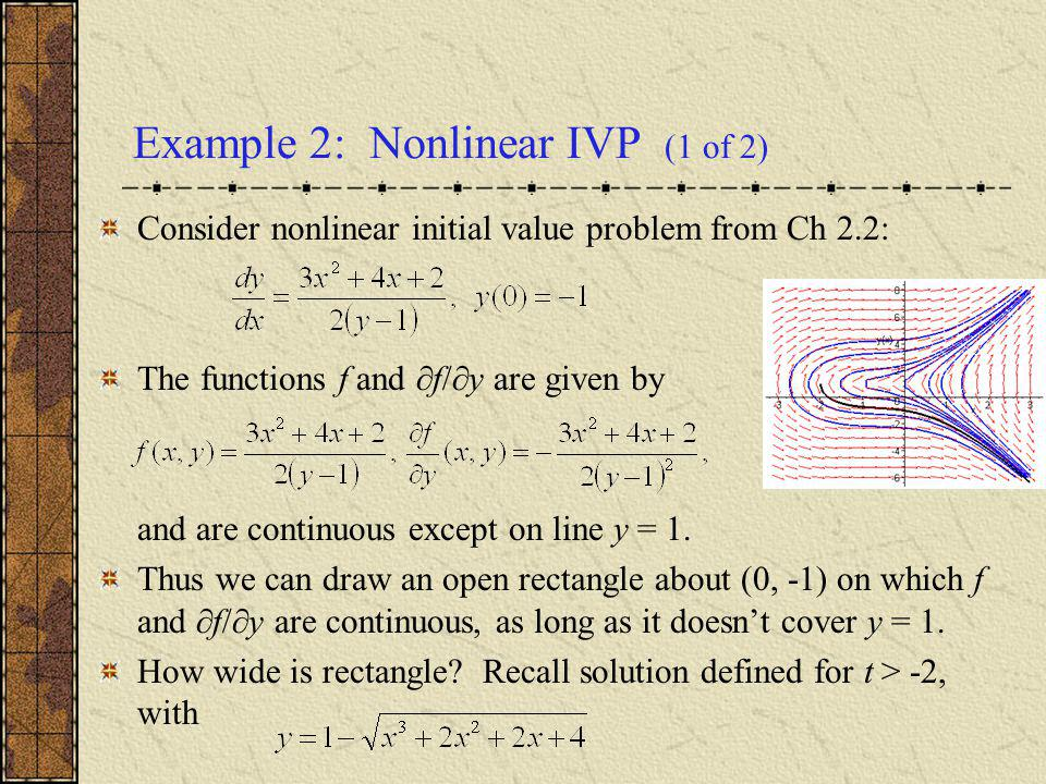 Example 2: Nonlinear IVP (1 of 2)