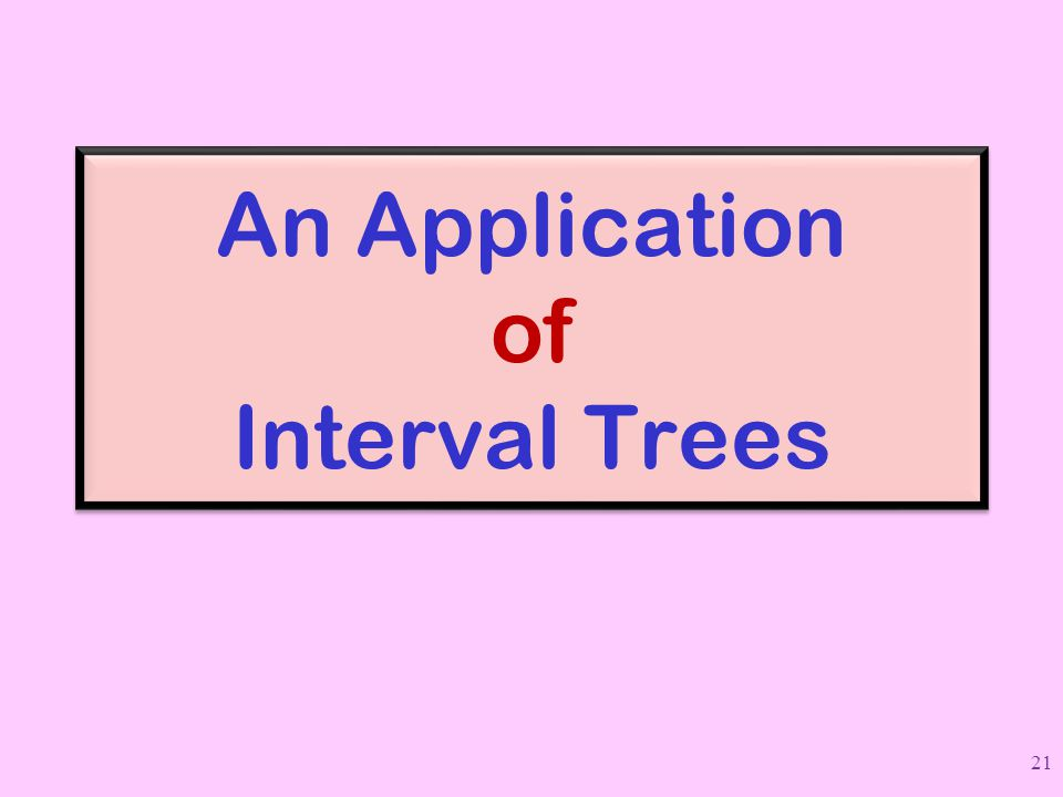 An Application of Interval Trees