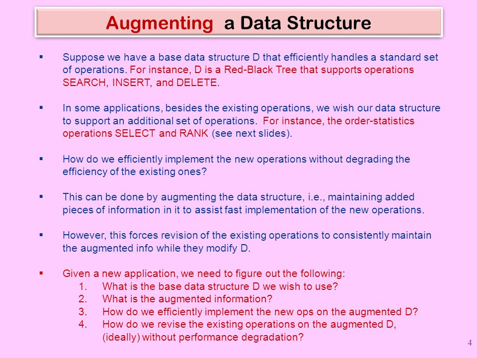 Augmenting a Data Structure