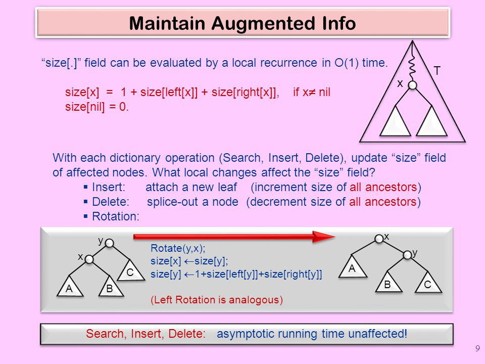 Maintain Augmented Info
